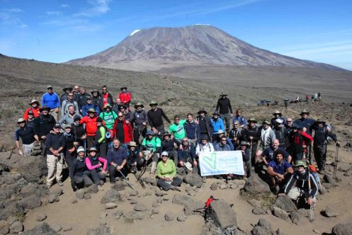 The group in front of kili